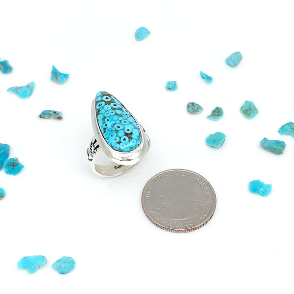 Natural Kingman Turquoise ring size 9