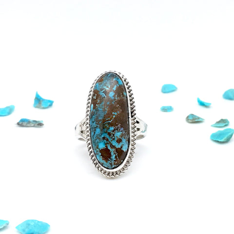 Silver Ring With Kingman Turquoise