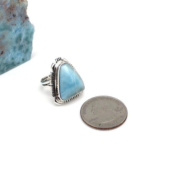 Native Larimar Ring