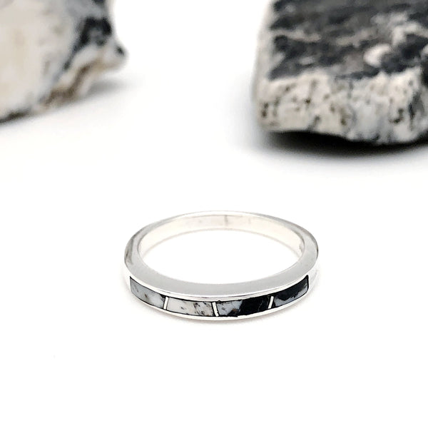 White Buffalo Petite Inlay Ring