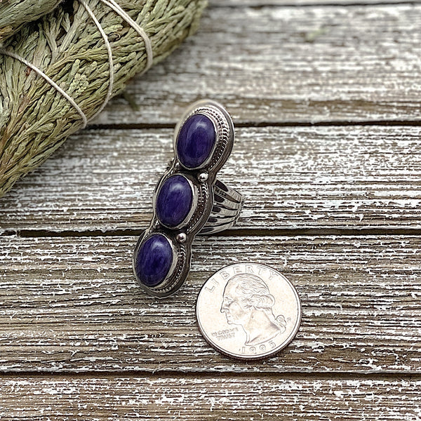 Charoite Ring Size 7
