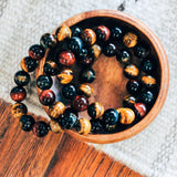 Tiger's Eye Multi Color 12mm Bracelet