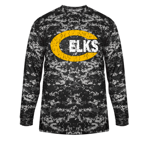 Full Camo long sleeve dri fit tee-Centerville 11u Baseball