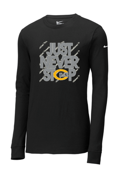 Nike YOUTH Dri fit long sleeve tee-Cline Holiday 20