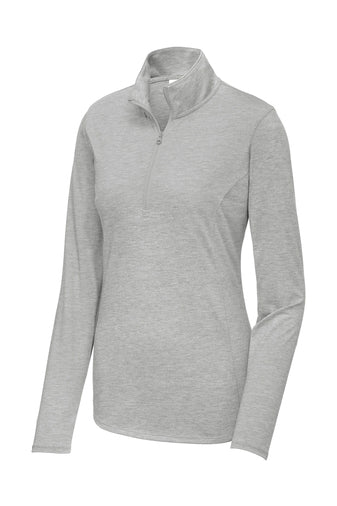 NEW-Sport-Tek ® Ladies PosiCharge ® Tri-Blend Wicking 1/4-Zip Pullover-VMCA Social Work Service