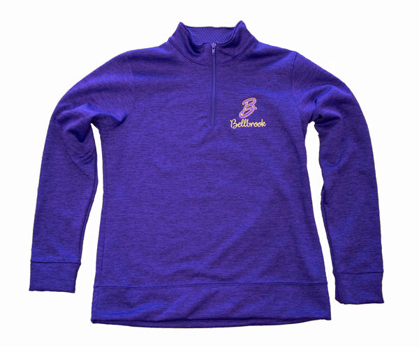 Ladies Golden Eagles Embroidered Quarter Zip Pullover