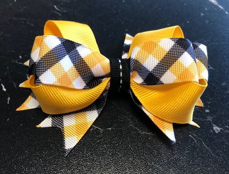Hair Bow  on clip -John Hole fall 20