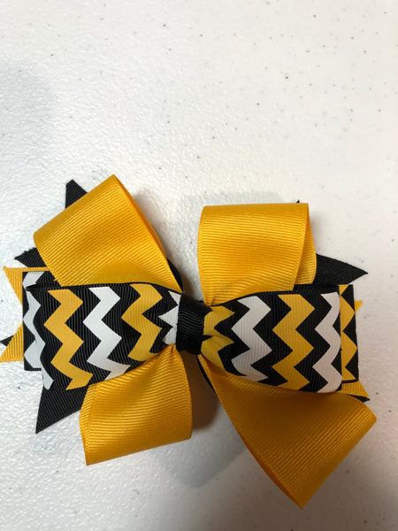 Hair Bow  on clip -Stingley fall '20
