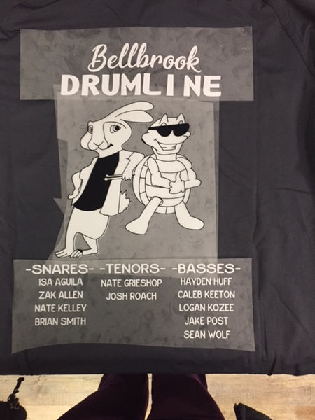 Long Sleeve T-Shirt-Bellbrook Drumline section tee