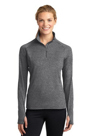 Ladies Sport-Wick Stretch 1/4 zip Pullover-WPAFB F-22