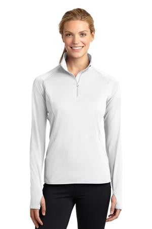 Ladies Sport Wick Stretch 1/4 zip pullover-Slow and Steady