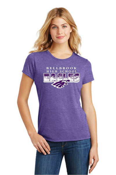 Tri-blend Ladies T-Shirt-BHS Staff spirit wear