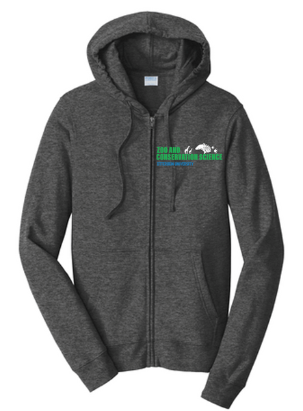 Full zip Hoodie-Otterbein Zoo & Conservation Science