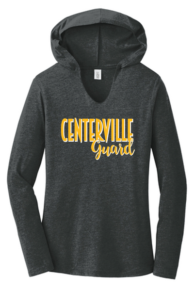 Ladies long sleeve hooded tee-CJB 2020