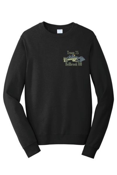 Long sleeve Cotton T-Shirt - Troop 75 2021