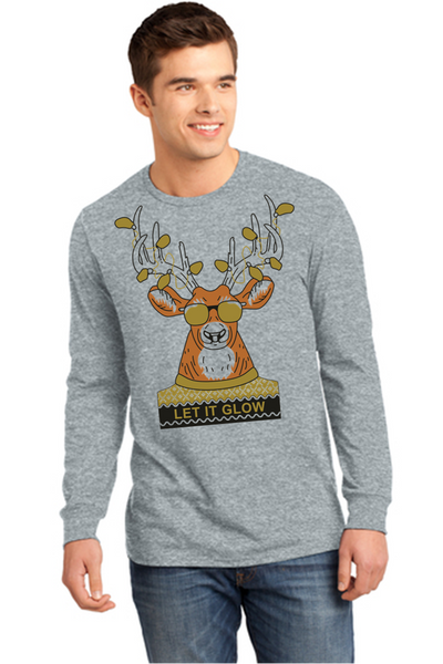 Long sleeve Christmas tee-Cline Christmas Fundraiser