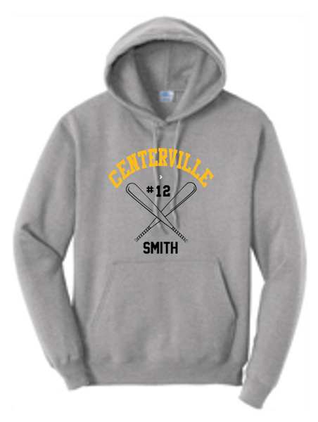 Cotton hoodie-Centerville 8u baseball winter 21
