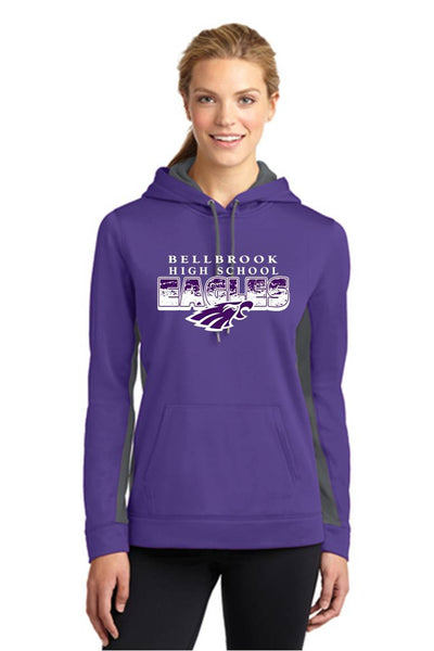 Ladies Sport-Wick® Fleece Colorblock Hooded Pullover-BHS Staff spirit wear