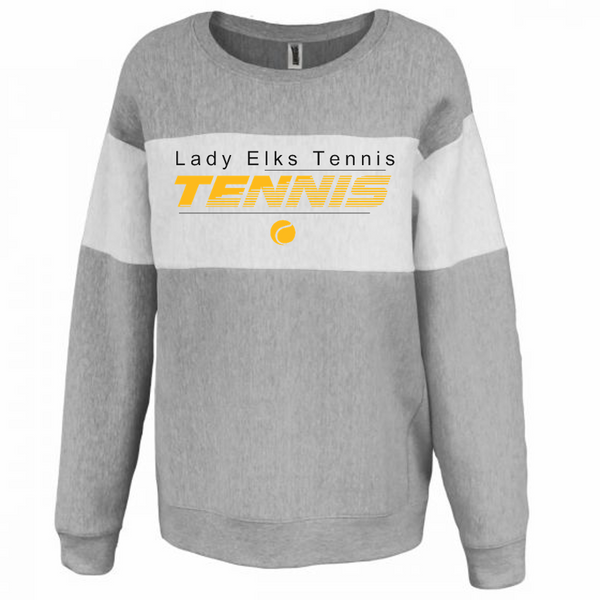 Varsity  stripe crew neck sweatshirt-CHS tennis 2020