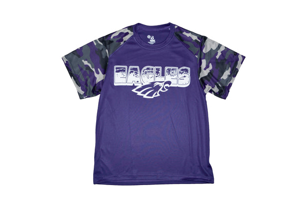 Youth Dri-Fit Bellbrook Eagles Camo Tee