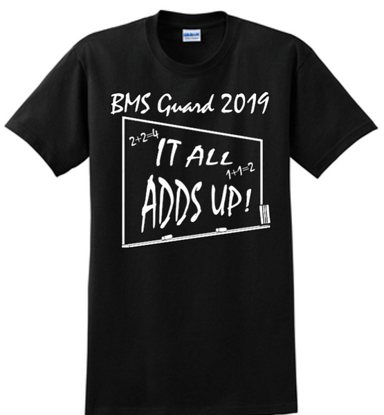 BMS show shirt-2019 Bellbrook Winterguard