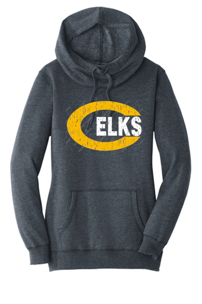 Ladies tri blend hoodie-Cline fundraiser