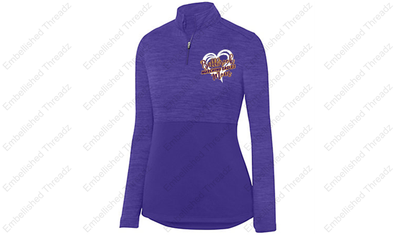 Ladies Shadow Tonal Heather 1/4 Zip Pullover-BME band gear '18