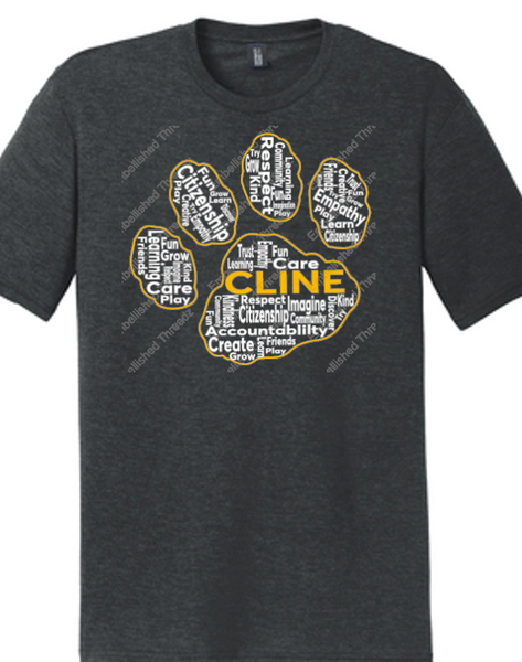 Youth Tri blend Tee-Cline fall 18