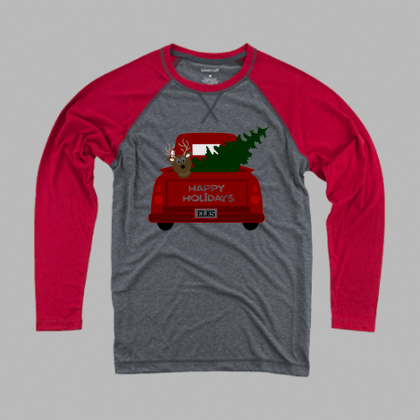 Holiday raglan