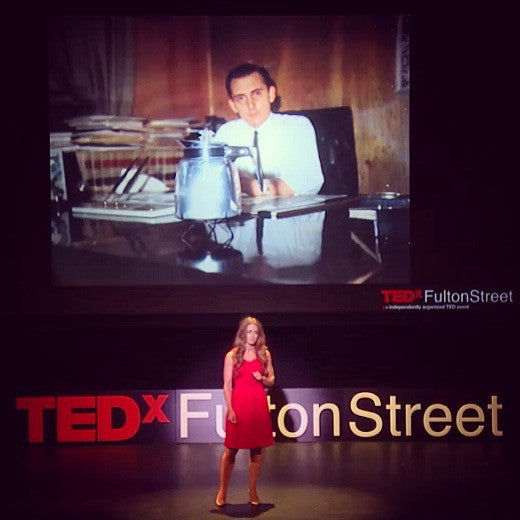 We told our story onstage at TEDx Fulton Street!