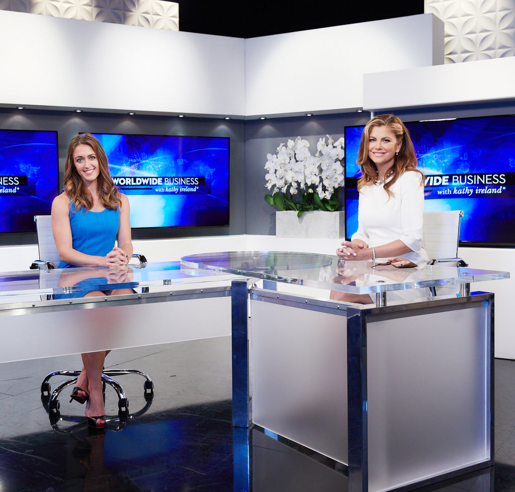 Interviewed by Kathy Ireland on TV!