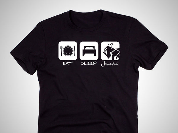 Eat Sleep Stackfish Cotton T-Shirt