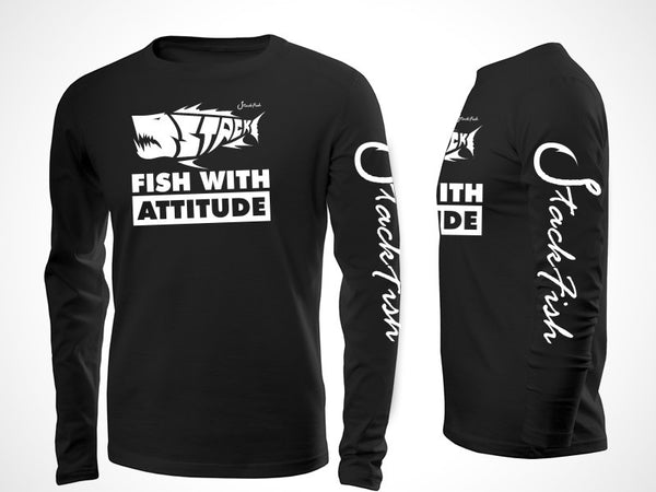 Fish With Attitude Cotton Long Sleeve T-shirt
