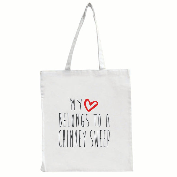 My Heart Belongs To A Chimney Sweep - Large Tote Shopping Bag