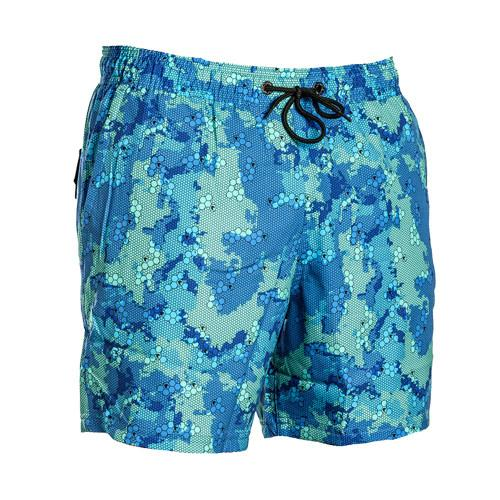 Camouflage Deep Blue Camo Trunk Men's Swimwear