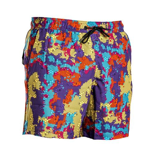 Camouflage Deep Coral Camo Trunk Men's Swimwear