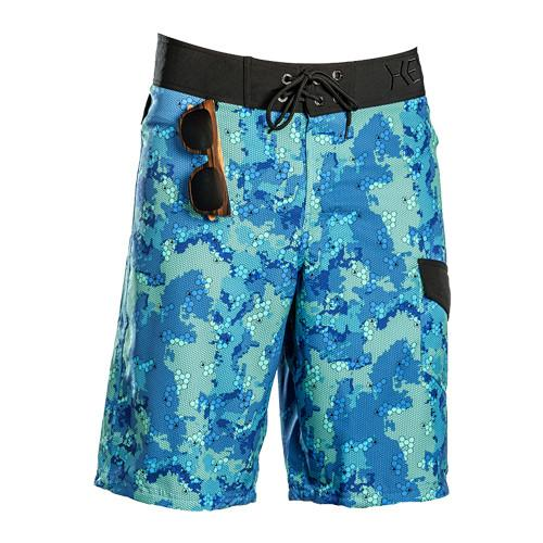 Camouflage Deep Blue Camo Boardshort Men's Swimwear