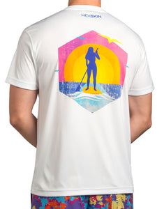 Sunset SUP Lightweight UPF Tee Shirt - Hexskin