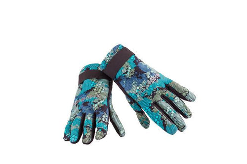 Deep Blue Camo Gloves - Hexskin