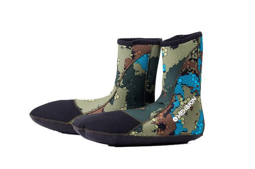Sea Grass Camo Booties - Hexskin