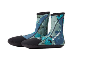 Deep Blue Camo Booties - Hexskin