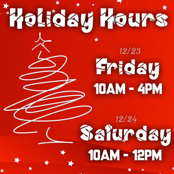 Holiday Hours + In Stock Canvas Sale!