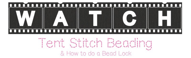 Tent Stitch Beading & How to do a Bead Lock
