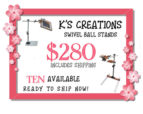 K's Creations Swivel Ball Stands