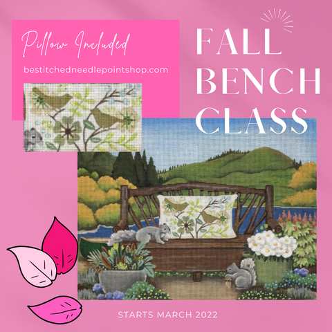 https://bestitchedneedlepointshop.com/collections/online-classes/products/virtual-fall-bench-class