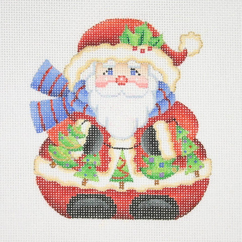 Christmas Ornament / Chubby Santa