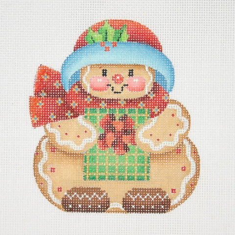 Christmas Ornament / Chubby Gingerbread Man
