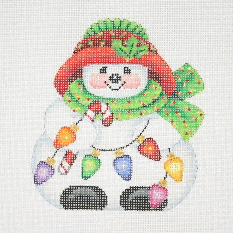 Christmas Ornament / Chubby Sock Hat Snowman