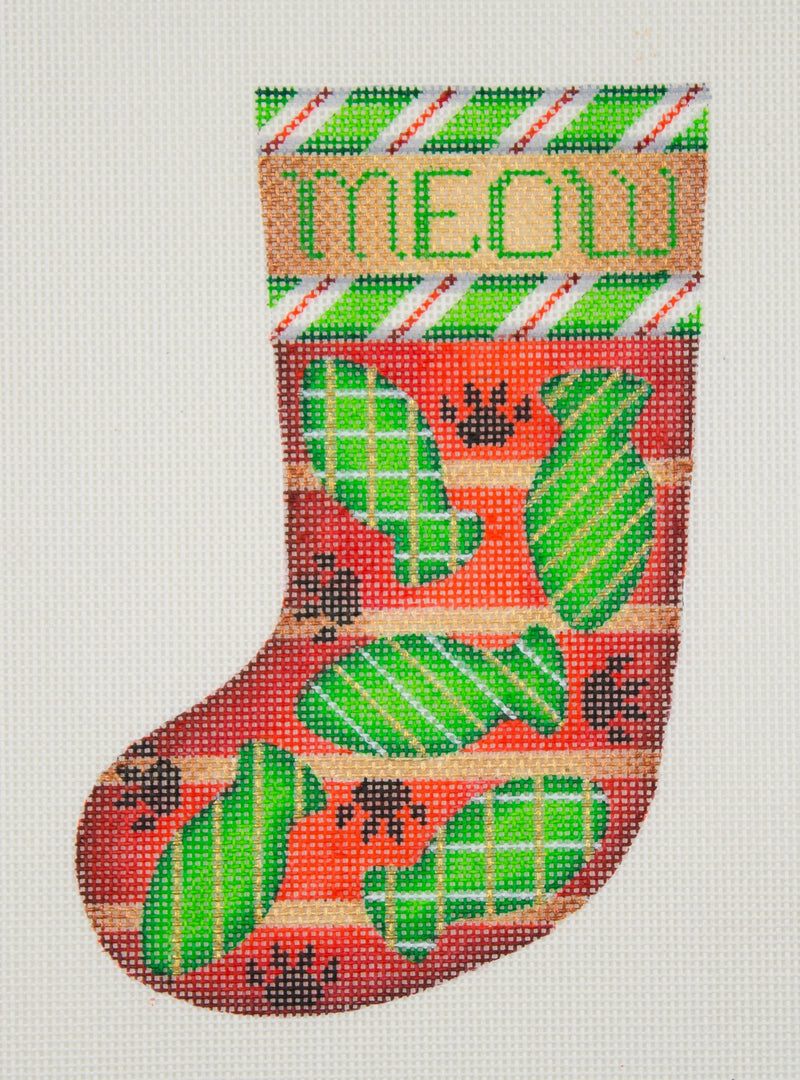 Christmas Min-Sock / MEOW / Fish / Candy Cane Border