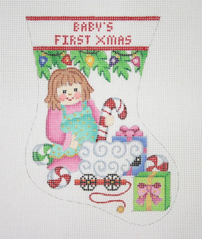 Christmas Mini-Sock / Baby's First Christmas / Doll